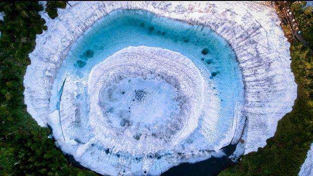 Giappone: il lago misterioso che somiglia ad un occhio di drago