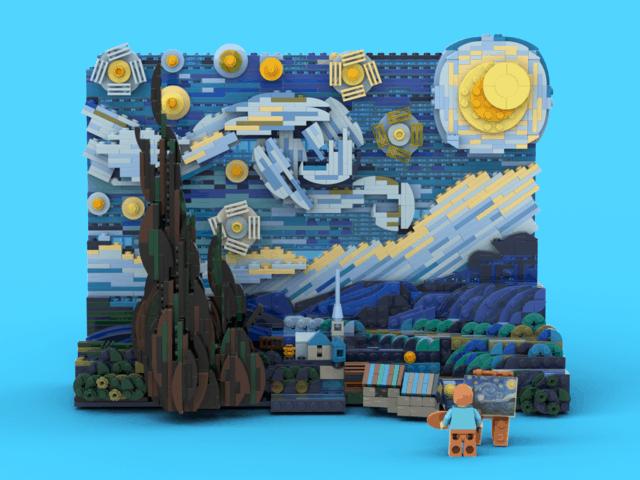 Lego: in arrivo il set dedicato alla Notte Stellata di Van Gogh